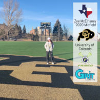 Zoe McElhaney ('20, Frisco) has committed to Colorado!