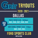 Dallas and Houston Tryouts